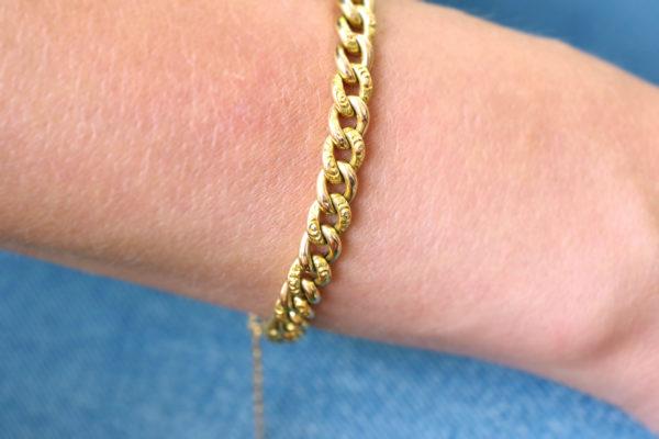 bracelet maille souple or jaune charles morricault maison mohs