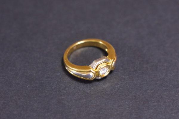 bague occasion diamant fiançailles or