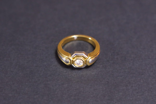 recycled gold ring wedding solitaire ring