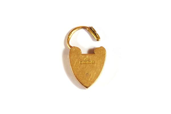 Pendentif cadenas coeur en or rose 18k